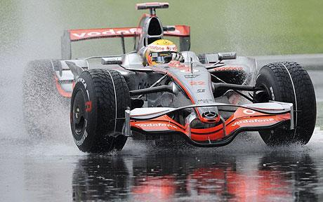 Lewis Hamilton in his McLaren Mercedes