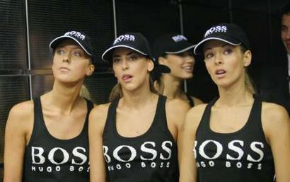 Hugo Boss's girls in Madrid's Tennis Masters