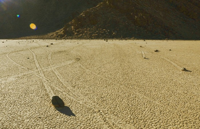 Sailing Stones, Death Valley, California