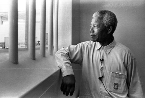 Nelson Mandela at Robben Island, Cape Town